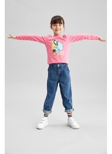 DeFacto Kız Çocuk Baskılı Tişört Pembe
